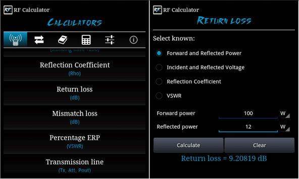 RF Calculator imagem de tela 10