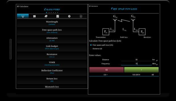 RF Calculator imagem de tela 4