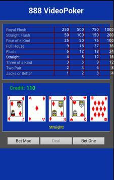 The 888 Video Poker apk screenshot