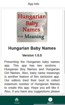 Hungarian Baby Names apk screenshot