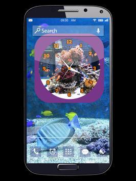Aquarium Clock Live Wallpapers poster