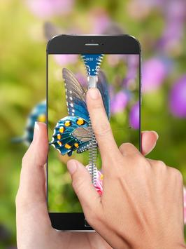 Colorful Butterfly Zip Lock apk screenshot
