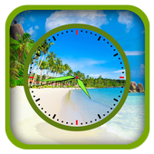 Beach Clock Live Wallpapers icon