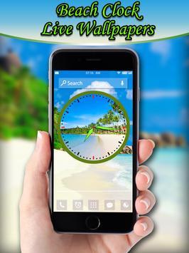 Beach Clock Live Wallpapers apk screenshot