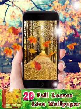 2D Fall Leaves Live Wallpapers poster