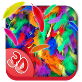 3D Feather Fall Live Wallpaper icon