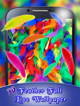 3D Feather Fall Live Wallpaper apk screenshot