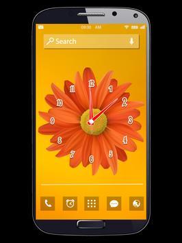 Flower Clock Live Wallpapers apk screenshot