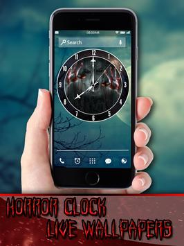 Horror Clock Live Wallpapers poster
