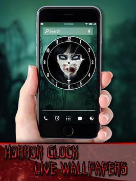 Horror Clock Live Wallpapers apk screenshot