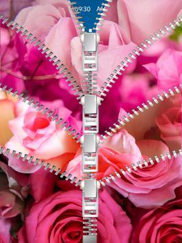 Pink Roses Lock Screen apk screenshot
