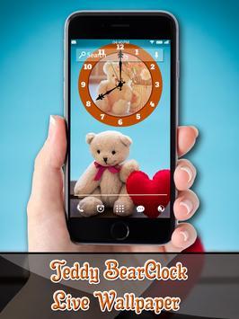 Teddy Bear Clock LiveWallpaper poster