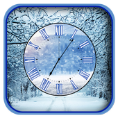 Winter Clock Live Wallpapers icon