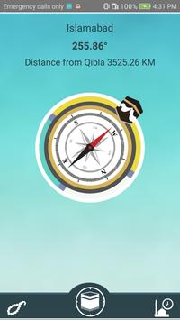 Find Qibla Now with Salah Times poster