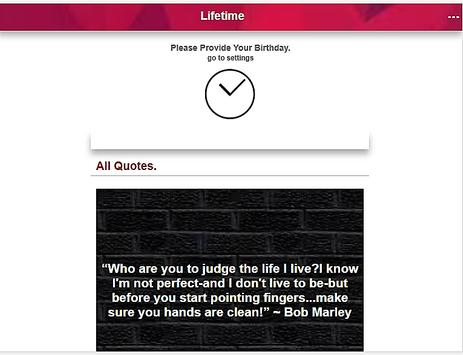 Quotes By Lifetimer apk screenshot