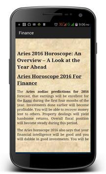 Aries Horoscope 2016 screenshot 4