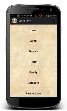 Aries Horoscope 2016 screenshot 1