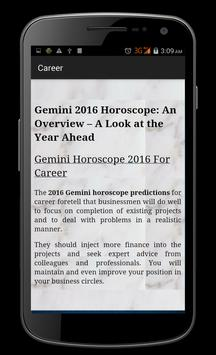 Gemini Horoscope 2016 apk screenshot