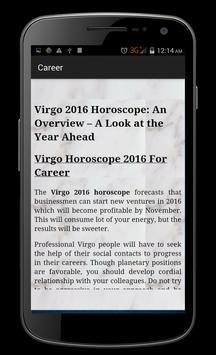 Virgo Horoscope 2016 apk screenshot