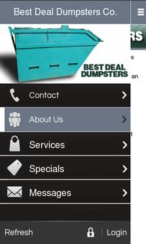 Best Deal Dumpsters poster