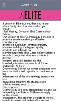 Elite Cosmetology School screenshot 1