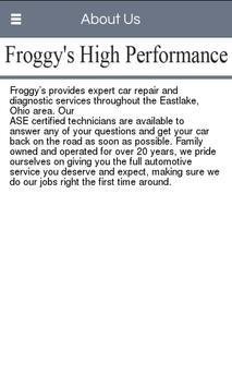 Froggy's High Performance screenshot 1