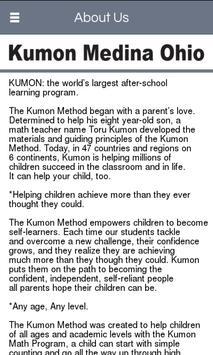 Kumon Medina Ohio poster
