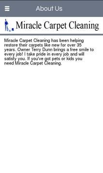 Miracle Carpet Cleaning poster
