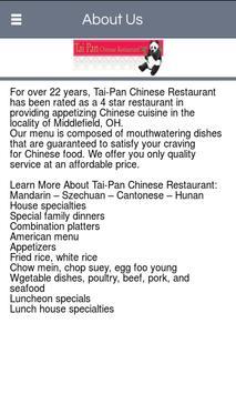 Tai Pan Chinese Restaurant poster