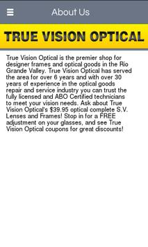 True Vision Optical screenshot 1