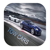two cars in road icon