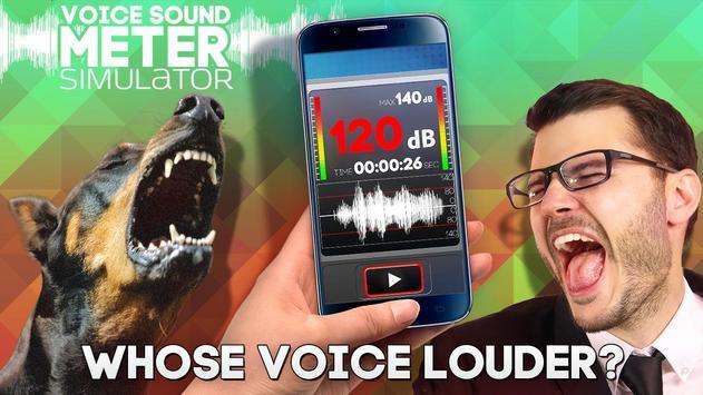 Voice Sound Meter simulator poster
