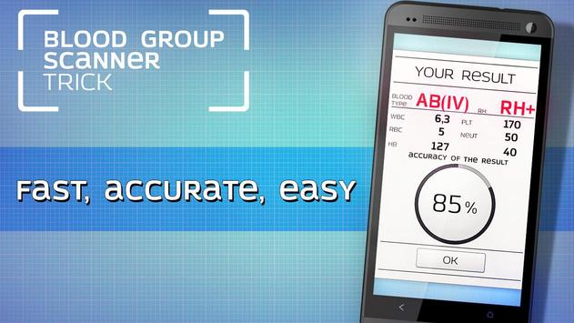 Blood group scanner trick apk screenshot