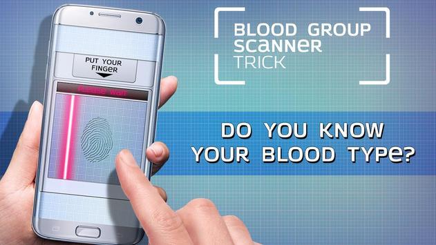 Blood group scanner trick poster