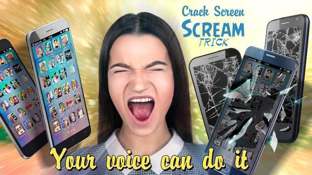 Crack Screen Scream trick poster