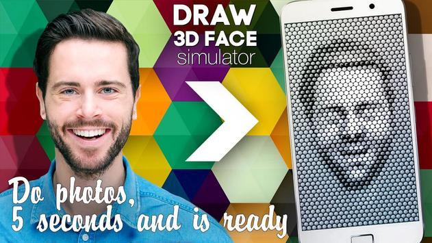 Draw 3D face simulator apk screenshot