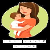 Baby colic sleep icon