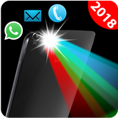 Flash on Call-Color flashlight alert Call and SmS icon