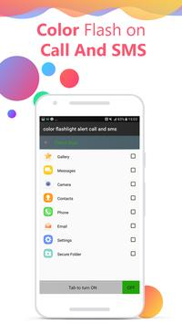 Flash on Call and SMS: Color flash on call and sms screenshot 4