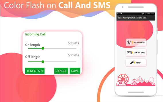 Flash on Call and SMS: Color flash on call and sms screenshot 7