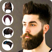 Man hairstyle photo editor:New hair style 2018 icon