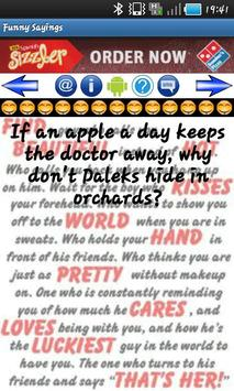 Funny Sayings poster