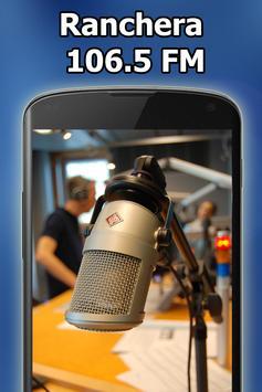 Radio Ranchera 106.5 FM Gratis En Vivo El Salvador الملصق