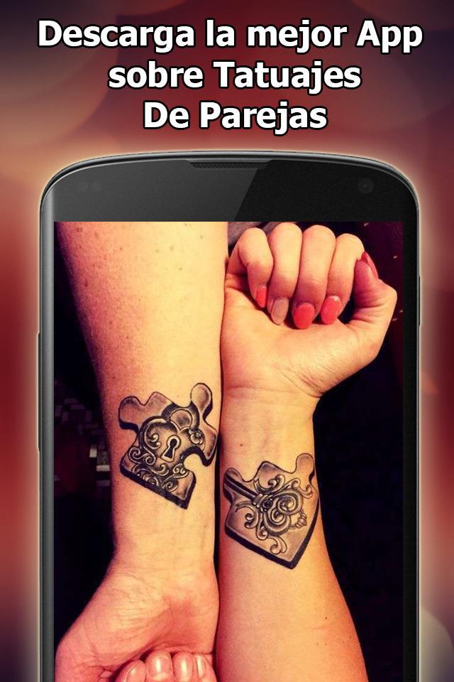 Tatuajes De Parejas For Android Apk Download Así que, si quieres demostrar lo mucho que quieres a tu pareja, un buen tattoo puede ser uno que si no te gusta la opción anterior, otro buen ejemplo de los mejores tatuajes para parejas es este otro. tatuajes de parejas for android apk