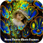 Neon Flower 2018 Photo Frames New icon