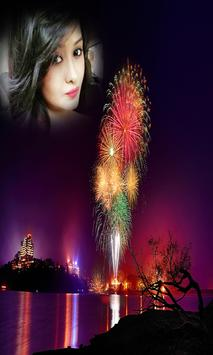 New Year 2018 Fireworks Photo Frames New poster