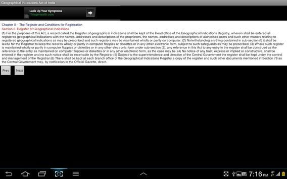 Geographical Indications Act apk screenshot