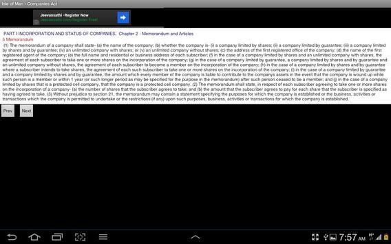Isle of Man Companies Act apk screenshot