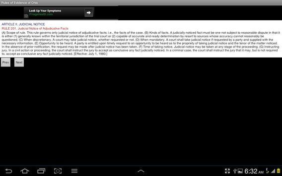 Rules of Evidence of Ohio apk screenshot