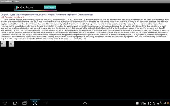 Penal Code - Estonia apk screenshot
